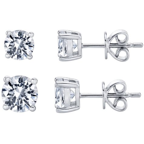0.25 ct. t.w. Diamond Stud Earrings in 14K White Gold (H-I, SI2-I1)
