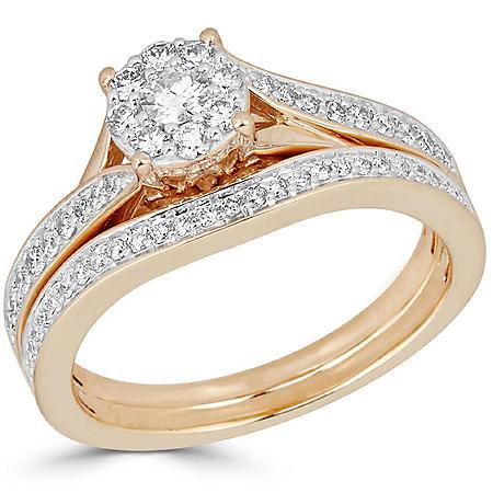 0.50 CT. T.W. Diamond Bridal Ring Set in 14K Gold (H-I, I1)