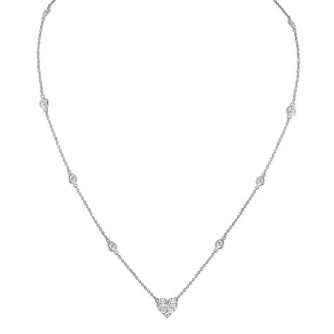 1.25 CT. T.W. Necklace in 14K White Gold (I-I1)