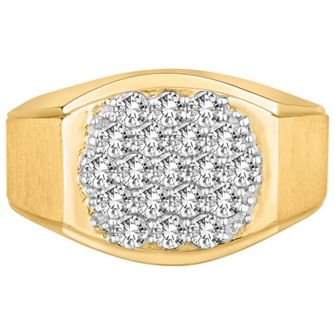 1.00 CT. TW. Men's Diamond Wedding Band in 14K Yellow Gold (I-I1)