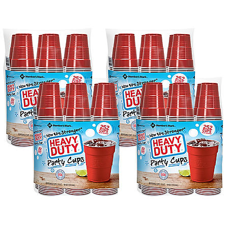 Member's Mark Heavy-Duty Red Cup 4pk. (18 oz., 1008 ct.)
