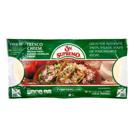 V&V Supremo Queso Fresco Fresh Crumbling Cheese (20 oz. ea., 2 pk.)