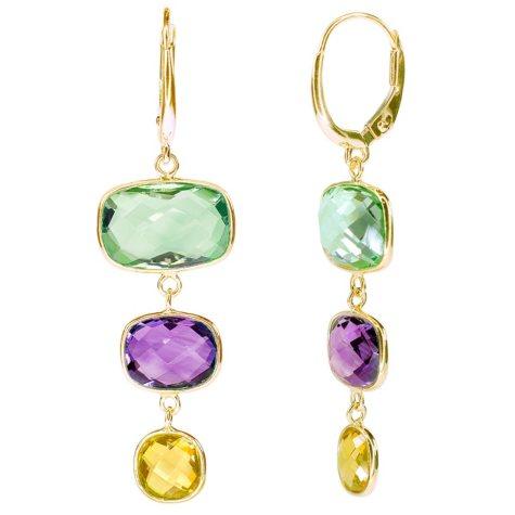 Multi Gemstone Earrings in 14K Yellow Gold