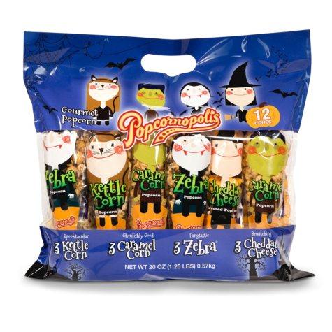 Popcornopolis Popcorn Cones (1.67 oz., 12 ct.)