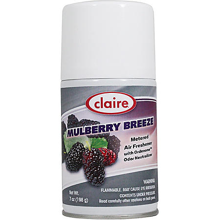 Claire Mulberry Breeze Scent Metered Air Freshener with Ordenone Odor Neutralizer (7 oz., 4 pk.)