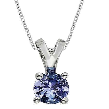 4.5mm Round Tanzanite Pendant in 14K Gold