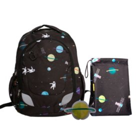 Crckt Youth Backpack, 3 Piece Set with Lunch Kit and Matching Ice Pack, Choose a Design