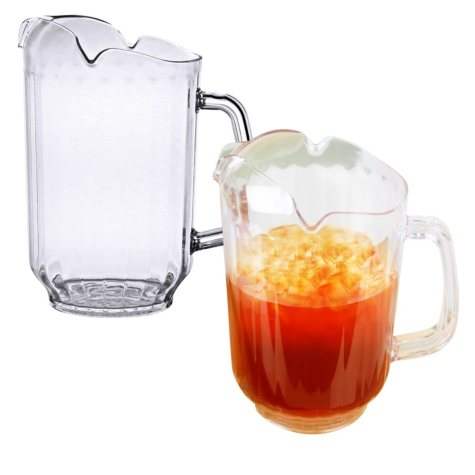 Water Pitcher, Clear Polycarbonate (64 oz., 2 pk.)