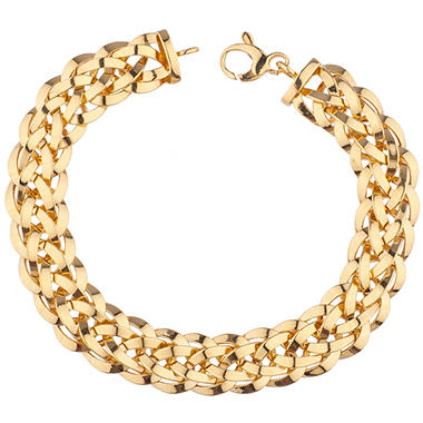 High Polish Woven Bracelet In 14k Yellow Gold Sam S Club