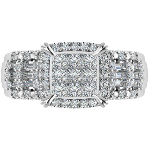 0.95 CT. T.W. Diamond Ring in 14K White Gold