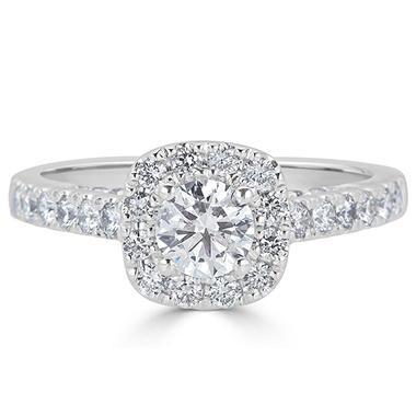 1 22 Ct T W Diamond En Ement Ring In 14k White Gold H I I1