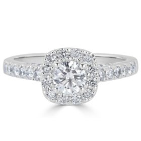 T W Diamond Engagement Ring In 14k White Gold H I I1