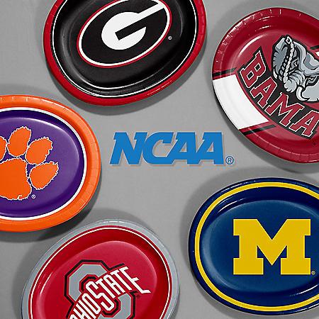 "NCAA Platter Plates- 10"" x 12"" (55 ct.)- Choose Your Team"