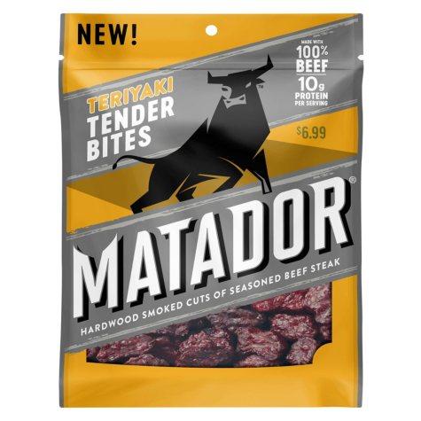 Matador Teriyaki Beef Jerky Tender Bites (3 oz., 3 pk.)