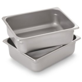 Member's Mark Half-Size Steam Table Pan (2 pk.)