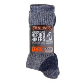 Omniwool Merino Wool Medium Weight Hiker Socks