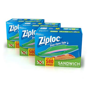 Ziploc Sandwich Bag 1740 Ct 3 Pk