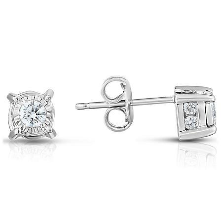 0.45 CT. T.W. Diamond Earrings in 14K White Gold