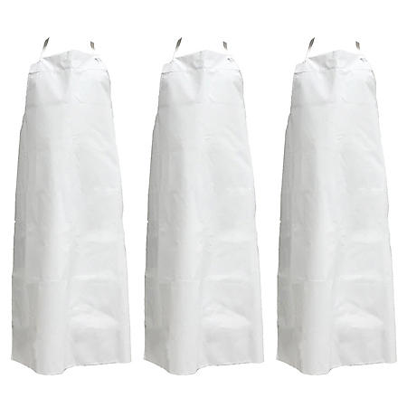 Kleen Chef Heavyweight PVC Reusable Apron for General Use and Dishwashing, White (3pk.)