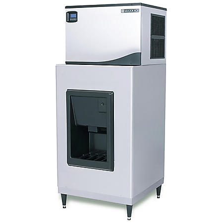 "Maxx Ice Hotel Dispenser 30"" Wide with Full Dice Ice Machine (Choose Your Size)"