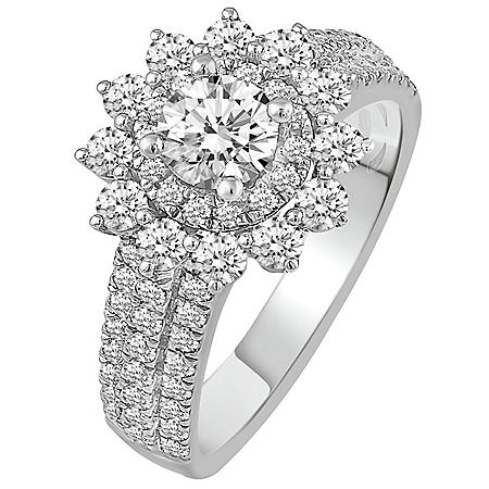 1.75 CT. T.W. Diamond Engagement Ring in 14k White Gold
