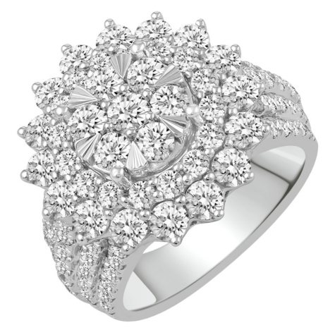3.75 CT. T.W. Diamond Engagement Ring in 14k White Gold