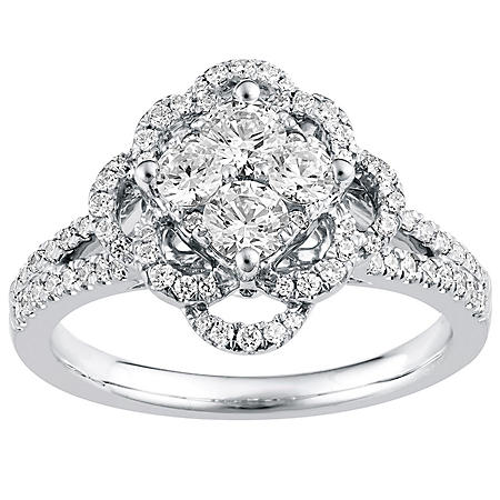1.00 CT. T.W. Diamond Engagement Ring in 14K White Gold