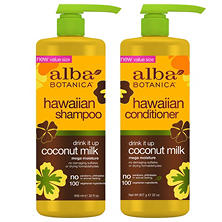 Alba Botanica Hawaiian Drink It Up Coconut Milk Shampoo and Conditioner
