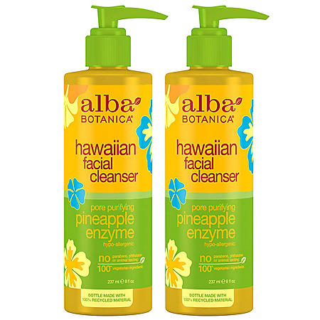 Alba Botanica Pore Purifying Pineapple Enzyme Facial Cleanser (8 oz., 2 pk.)