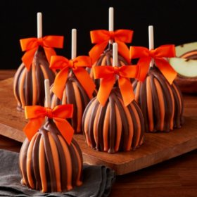 Mrs Prindables Halloween Triple Chocolate Petite Caramel Apple (12 ct.)