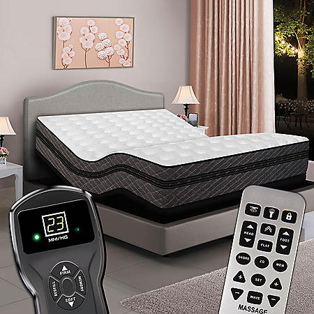 Twin XL Digital Millennium™ Box EuroTop Air Bed & Premium Adjustable Powerbase™
