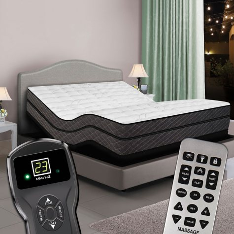 Twin XL Digital Reflections™ High Profile Pillowtop Air Bed & Luxury Adjustable Powerbase™