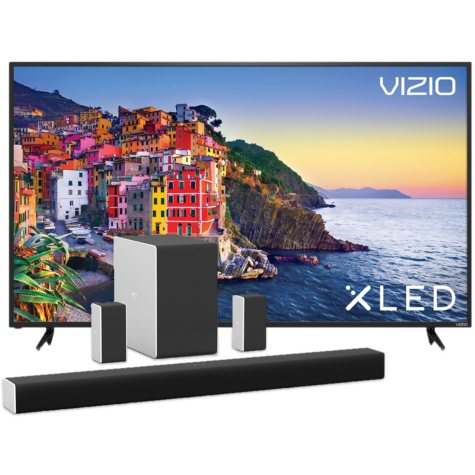 """VIZIO 80"""" Class XLED 4K Home Theater Display (E80-E3) and VIZIO 36"""" 5.1.2 Home Theater Sound System with Dolby Atmos® (SB36512-F6)"""