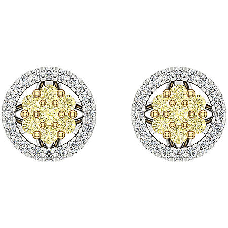 0.30 CT. T.W. Diamond Studs in 14k Two Tone Gold