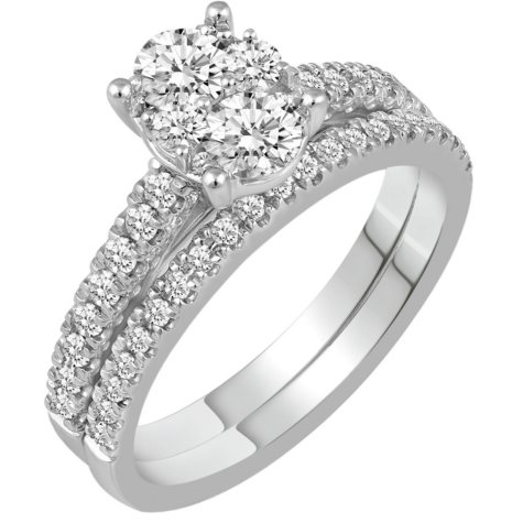 1.00 CT. T.W. Oval Shape Diamond Engagement Ring in 14K Gold