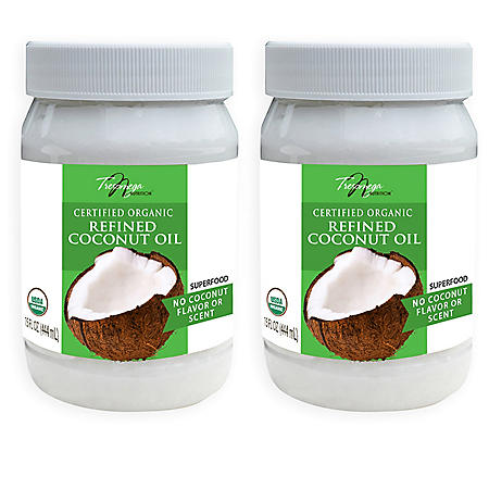 Tresomega Nutrition Organic Refined Coconut Oil (15 oz., 2 pk.)