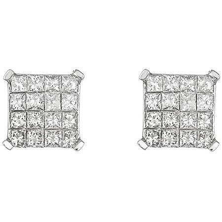 0.95 CT. T.W. Diamond Earrings- 14K Gold