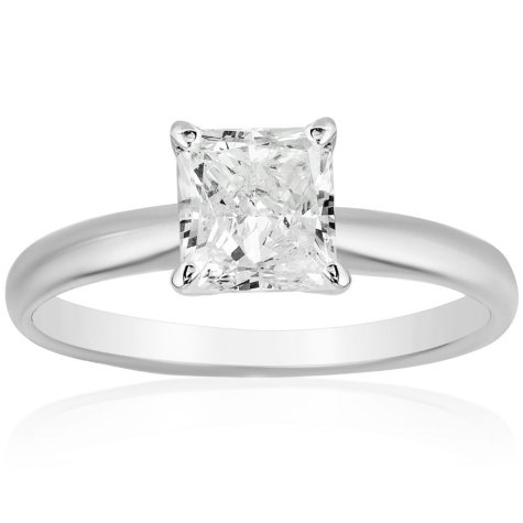 Superior Quality Collection 1.5 CT. T.W. Princess Shaped Diamond Solitaire Ring in 18K Gold (I, VS2)