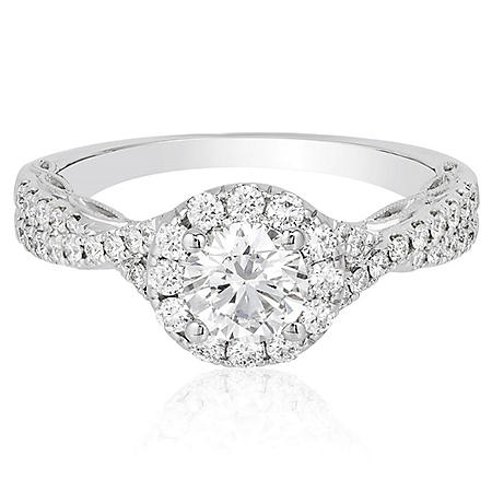 Superior Quality Collection 1.20 CT. T.W.  Diamond Engagement Ring in 18K Gold (I, VS2)