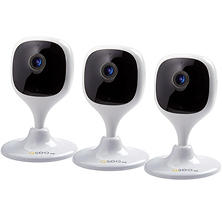 Q-See 1080P Wi-Fi Cube Security Camera - 3 Pack