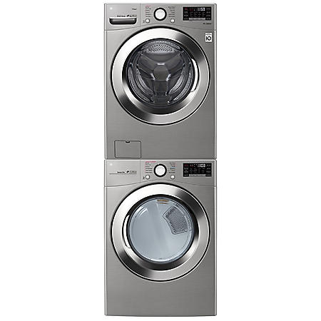 LG - WM3700, DLEX3700 / DLGX3701 Ultra Large Capacity Front Load Washer and Steam Dryer Suite - (Select: Fuel Type, Color, Display)
