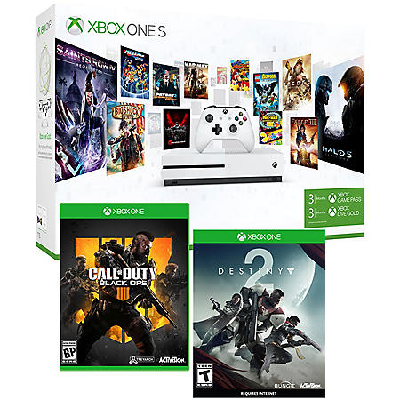 Xbox One S 1TB Gamepass Console with Black Ops 4 & Destiny 2 Bundle