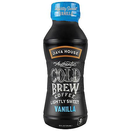 Java House Cold Brew, Lightly Sweet Vanilla (10 oz., 12 pk.)