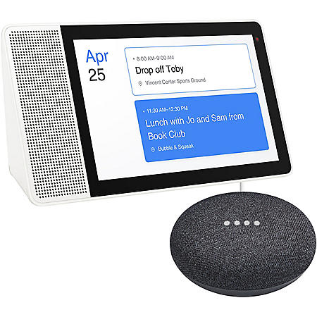 """Lenovo 10"""" Smart Display with the Google Assistant and Google Mini (Choose Color Style)"""