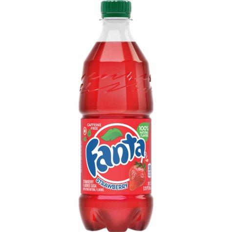 Fanta Strawberry Soda, Single Bottle (20 fl. oz.)