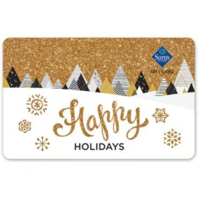 Sam's Club Gold Happy Holidays Gift Cards - Various Values