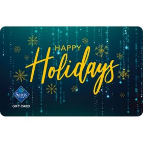 Sam's Club Teal Happy Holidays Gift Card - Various Values