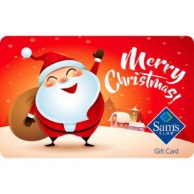 Sam's Club Happy Santa Gift Cards - Various Values
