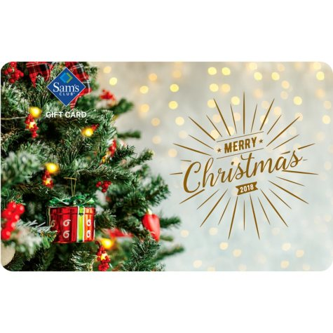 Sam's Club Tree Merry Christmas Gift Card - Various Values