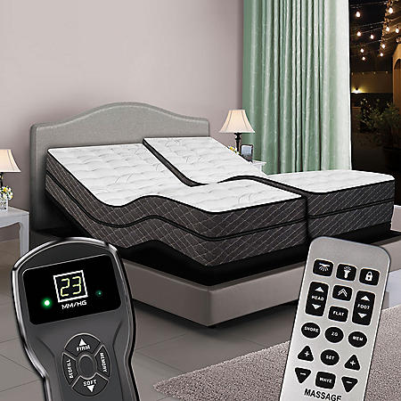 Split King Digital Reflections™ High Profile Pillowtop Air Bed & Dual Luxury Adjustable Powerbases™